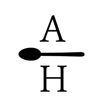 "Anne Harnan logo: letters ""A"" and ""H"" separated by a spoon"